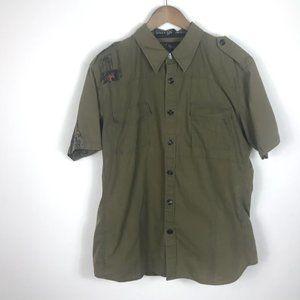 NOTW Green Button up shirt XL